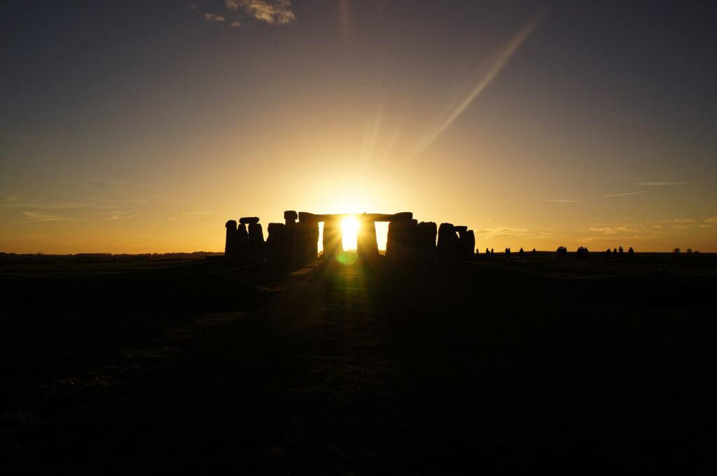 Capturing the sun at stonehenge