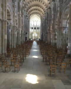 The path of light in the Basilica of St Mary Magdalene at Vézelay