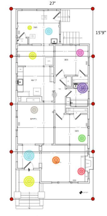 Sample plan of harmonization using solsticial quadrilaterals