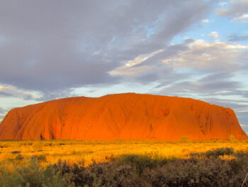 Uluru, sacred mountain in Australia