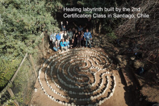 Labyrinth built during Chilean certification